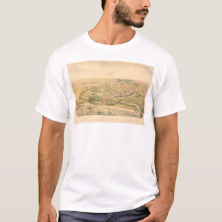 Santa Cruz, CA. Panoramic Map (1586A) - Restored T-Shirt