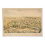 Santa Cruz, CA. Panoramic Map (1586A) - Unrestored Poster