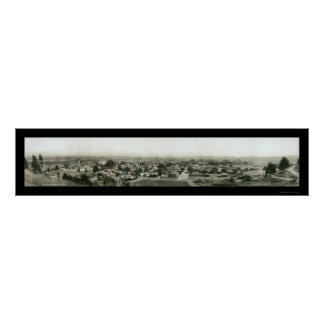 Santa Cruz CA Skyline Photo 1909 Poster
