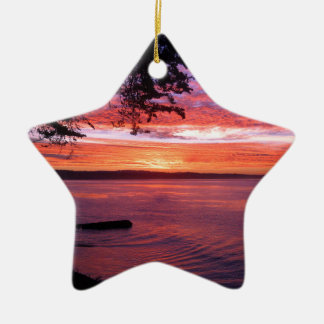 Santa Cruz, CA. Sunrise Christmas Ornament