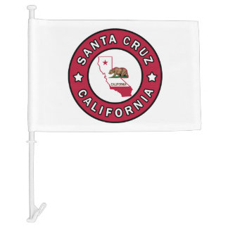 Santa Cruz California Car Flag