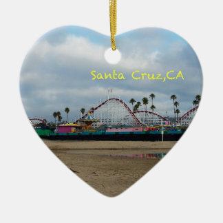 Santa Cruz California Ceramic Heart Decoration