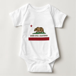 santa cruz california flag baby bodysuit