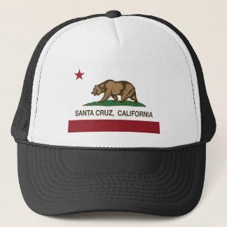 santa cruz california flag trucker hat
