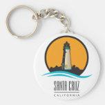Santa Cruz California Lighthouse Basic Round Button Key Ring