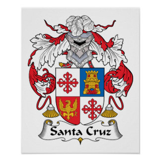 Santa Cruz Family Crest Poster