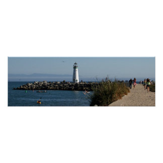 Santa Cruz Harbor California Poster