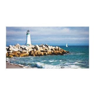 Santa Cruz Lighthouse Stretched Canvas Print
