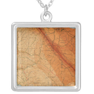 Santa Cruz quadrangle showing intensity, faults Silver Plated Necklace