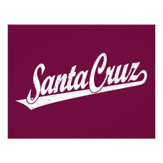 Santa Cruz script logo in white distressed 21.5 Cm X 28 Cm Flyer