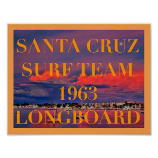 SANTA CRUZ SURFING POSTER