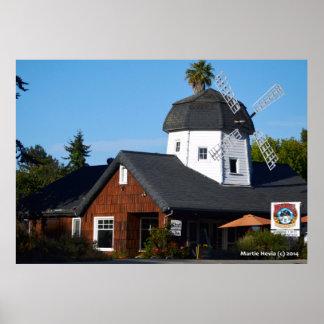Santa Cruz Windmill Poster