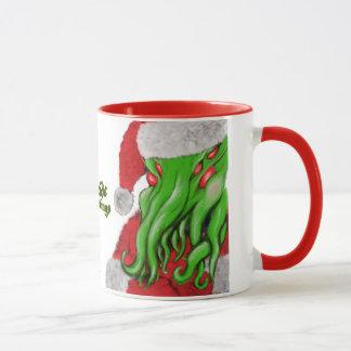 Santa Cthulhu Yuletide Greetings mug