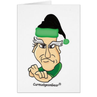 Santa Curmudgeon Card - Customizable