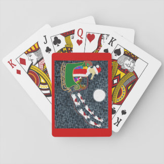 Santa Dachshund Playing Cards