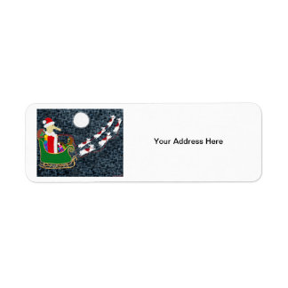 Santa Dachshund Return Address Label