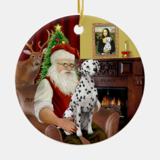Santa-Dalmatian Christmas Ornament