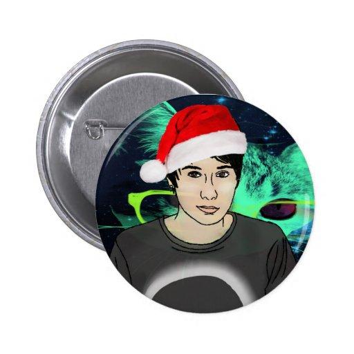 Santa Dan Pinback Button Button