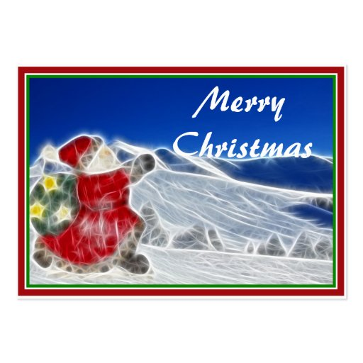 Santa, Dashing Through the Snow Business Cards