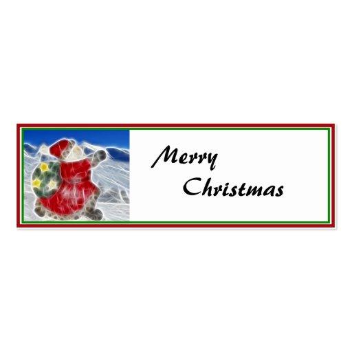 Santa, Dashing Through the Snow Business Card Template