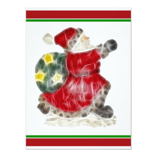 Santa, Dashing Through the Snow 6.5x8.75 Paper Invitation Card