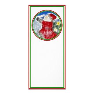 Santa, Dashing Through the Snow Full Color Rack Card