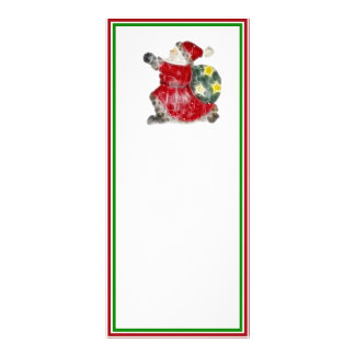 Santa, Dashing Through the Snow Rack Card Template
