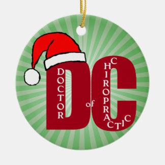 Santa DC Doctor of Chiropractic Christmas Logo Christmas Ornament