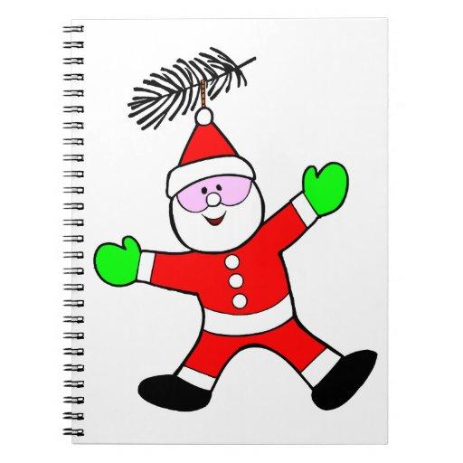 Santa Decoration Spiral Notebooks