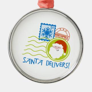 Santa Delivers! Christmas Ornament