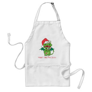 Santa Devil with candy cane Aprons