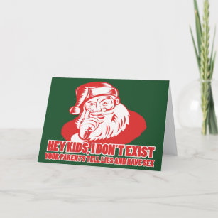Offensive christmas cards zazzle uk santa doesnt exist holiday card m4hsunfo