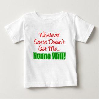Santa Doesn't Nonno Will Baby T-Shirt