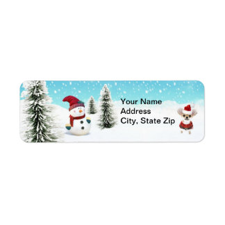 Santa Dog (2) Return Address Label