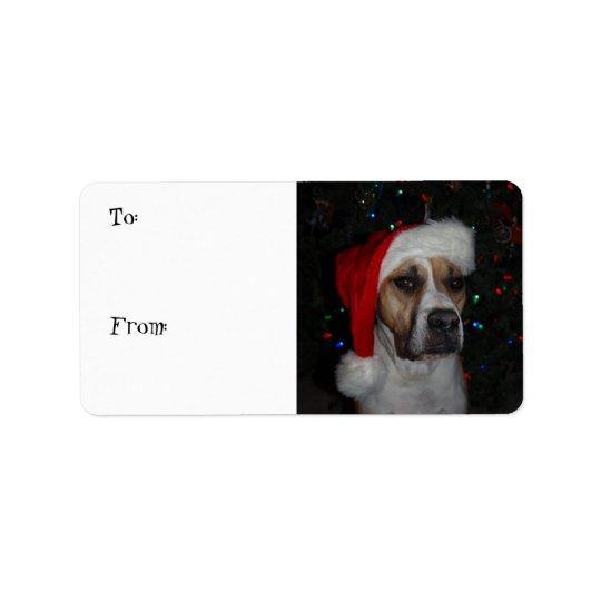 Santa Dog Address Label