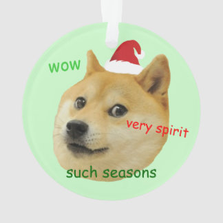 Santa Doge Holiday Ornament