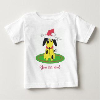 santa doggy - personalised baby T-Shirt