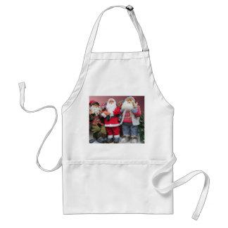 Santa Dolls Christmas Display Apron