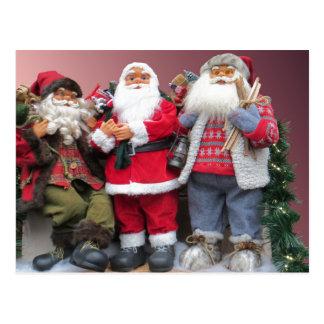 Santa Dolls Christmas Display Postcard