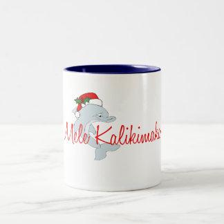 Santa dolphin Hawaiian Christmas Coffee Mug