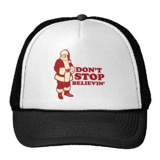 Santa, Don't Stop Believin' Trucker Hats