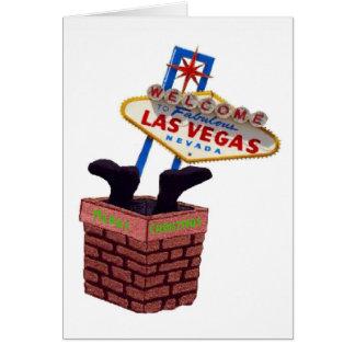 Santa down the Chimney Las Vegas Merry Xmas Card
