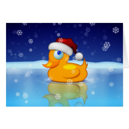 Santa Duck Cards