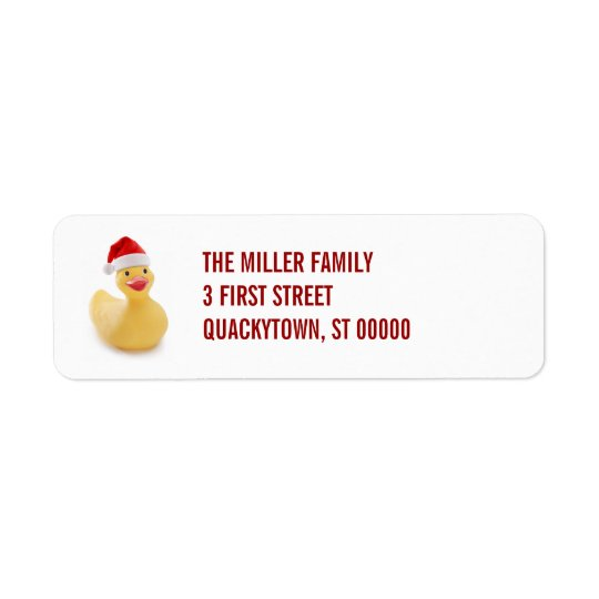 Santa Ducky Kitsch Label Return Address Label