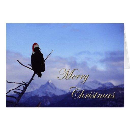 Santa Eagle Greeting Card