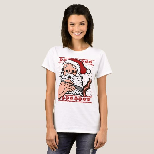 Santa Eating Bacon Ugly Christmas Sweater shirt