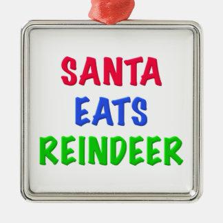Santa Eats Reindeer Christmas Ornaments