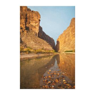 Santa Elena Canyon And Rio Grande At Sunrise Canvas Print