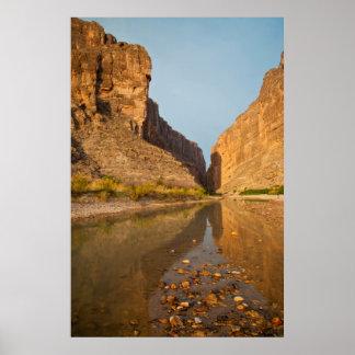 Santa Elena Canyon And Rio Grande At Sunrise Poster