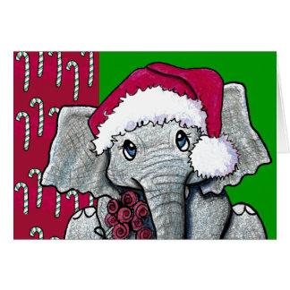 Santa Elephant Card